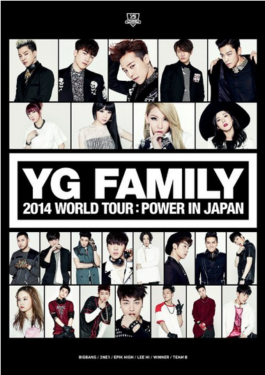 [DVD] YG FAMILY WORLD TOUR 2014 -POWER- in Japan